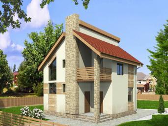 Проект индивидуального одноквартирного двухэтажного жилого дома